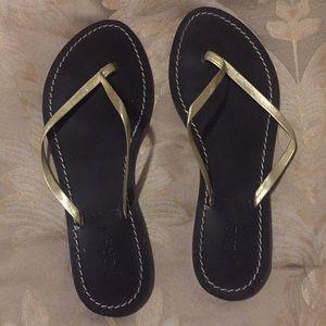 J.Crew gold strap sandals