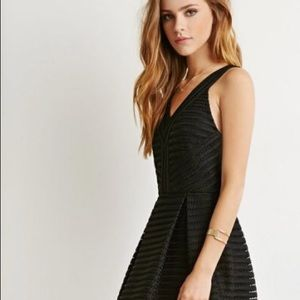 Forever 21 Textured Fit & Flare Dress