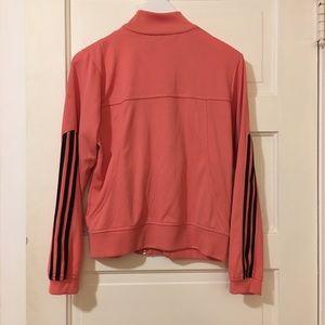 adidas Jackets & Coats - Peach and Black Adidas ZipUp Track Jacket
