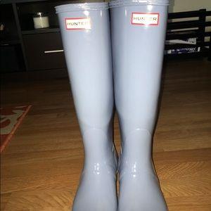 Blue Adjustable Hunter Boots