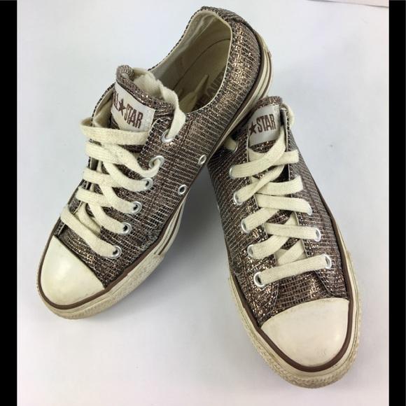 Converse All Star Bronze Metallic Sneakers 7.5