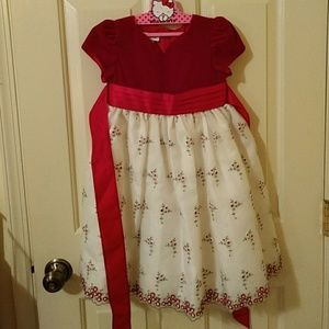 Bonnie Jean beautiful red & white dress