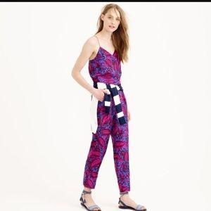 Midnight Floral Silk Jumpsuit