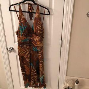 Jones New York Silk Halter Dress