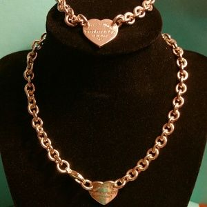 Tiffany & Co. Retired RTT Heart Necklace/Bracelet