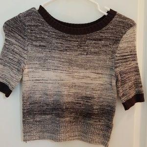 NWT. FREE PEOPLE short sleeve crop top sweater.