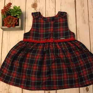Toddler Girl Osh Kosh Plaid Holiday Dress