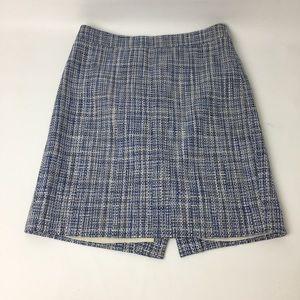 J. Crew no 2 pencil blue tweed skirt size 0P