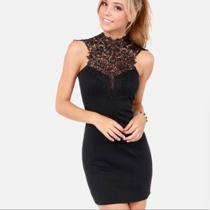 High neck lace lulus dress