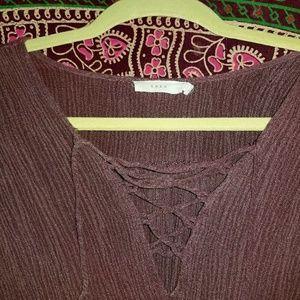 Lush tie blouse