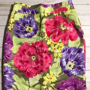 Banana Republic Silky Floral Skirt - 0