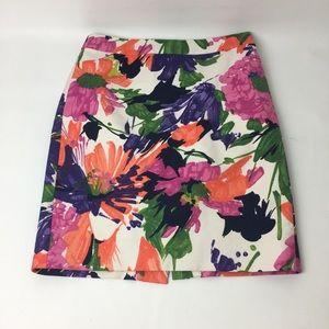 J. Crew floral no 2 pencil skirt size 0P