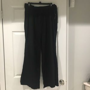 Linen pants, stretchy waist