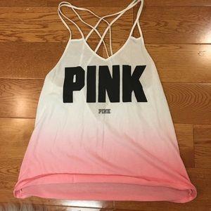 VS pink pink ombré tank top