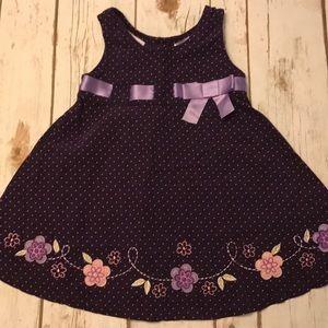 Toddler Girl Blueberi Boulevard Purple Dress