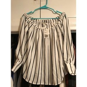 NEW WITH TAGS  Off The Shoulder Striped Top