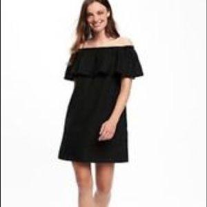 Old Navy Off the Shoulder Black Dress Medium Petit