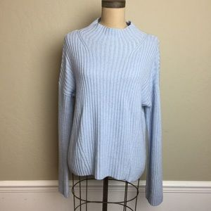 Lou & Grey mock turtleneck bell sleeve sweater