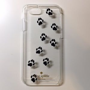 Kate Spade clear paw print iPhone 6, 6s case
