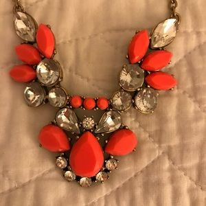 J crew hot pink statement necklace
