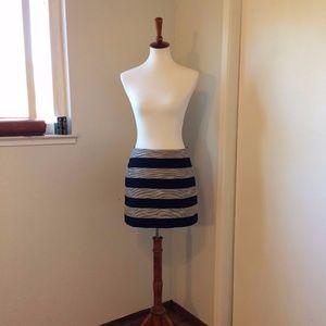 Loft Tweed Striped Mini Skirt