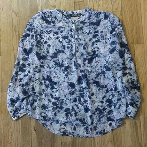 Marbled purple pattern blouse