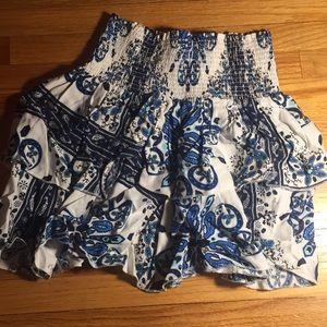 patterned h&m skirt