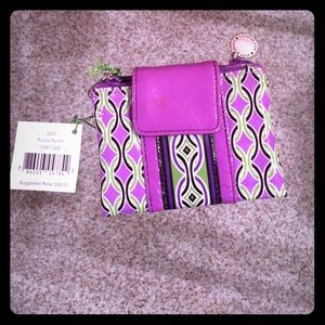Vera Bradley Frill Collection Purple Punch Wallet