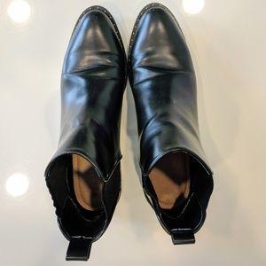 Zara Black Studded Chelsea Boots Eur 39