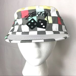49ee682761fcc Stussy Accessories - Rare! NEW Stussy Capz Checkerboard Dice Cap w  Tag