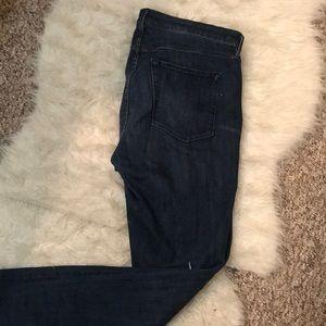 High rise dark denim jeans by 3 x 1