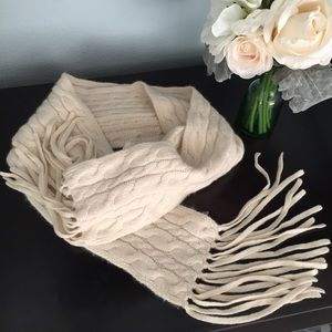 Cashmere Cable Knit Ann Taylor Scarf