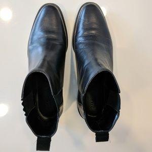 Zara Chelsea Boots Silver Trim Eur 38