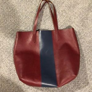 Jcrew madewell leather tote with coin purse