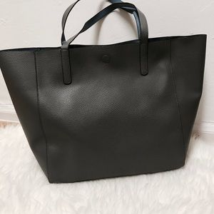 New gray & blue reversible tote