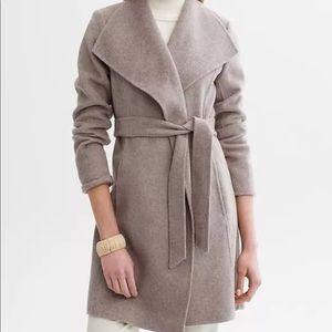 banana republic • long wool wrap coat