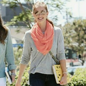 Infinity Circle Scarf ▪ Coral ▪ Lightweight & Chic