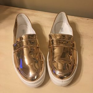 ASOS gold loafer