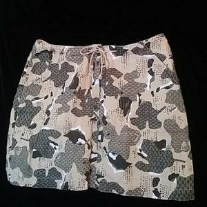 Willi Smith print miniskirt - sz 8