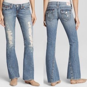True Religion ' Joey low rise  flare in Destroyed