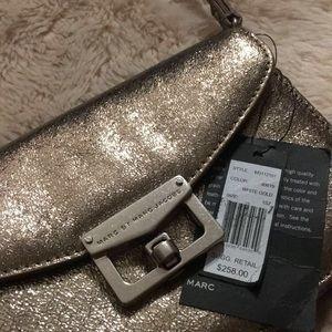 Marc by Marc Jacobs metallic clutch/crossbody bag