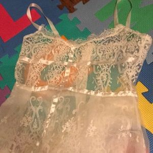"Lace white opaque bohemian ""wedding"" dress"
