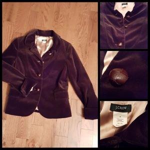 J  Crew chocolate velvet blazer.