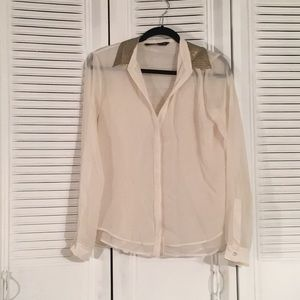 White woman's blouse from Zara