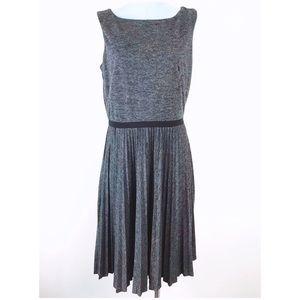 Ann Taylor Loft Gray flare dress