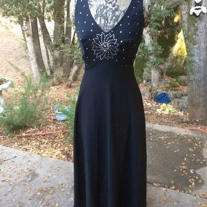 Vintage 1960 Poly Long Rhinestone Gown 8