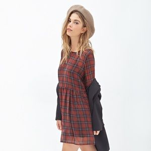 Forever 21 plaid chiffon dress