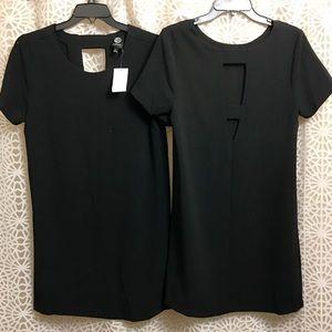 🆕🙋🏼NWT Bobeau S/S Shift Dress w/ Cut Out Back