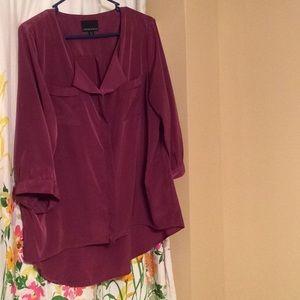 Cynthia Rowley hi low blouse