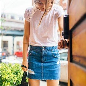 Free People corsette denim skirt